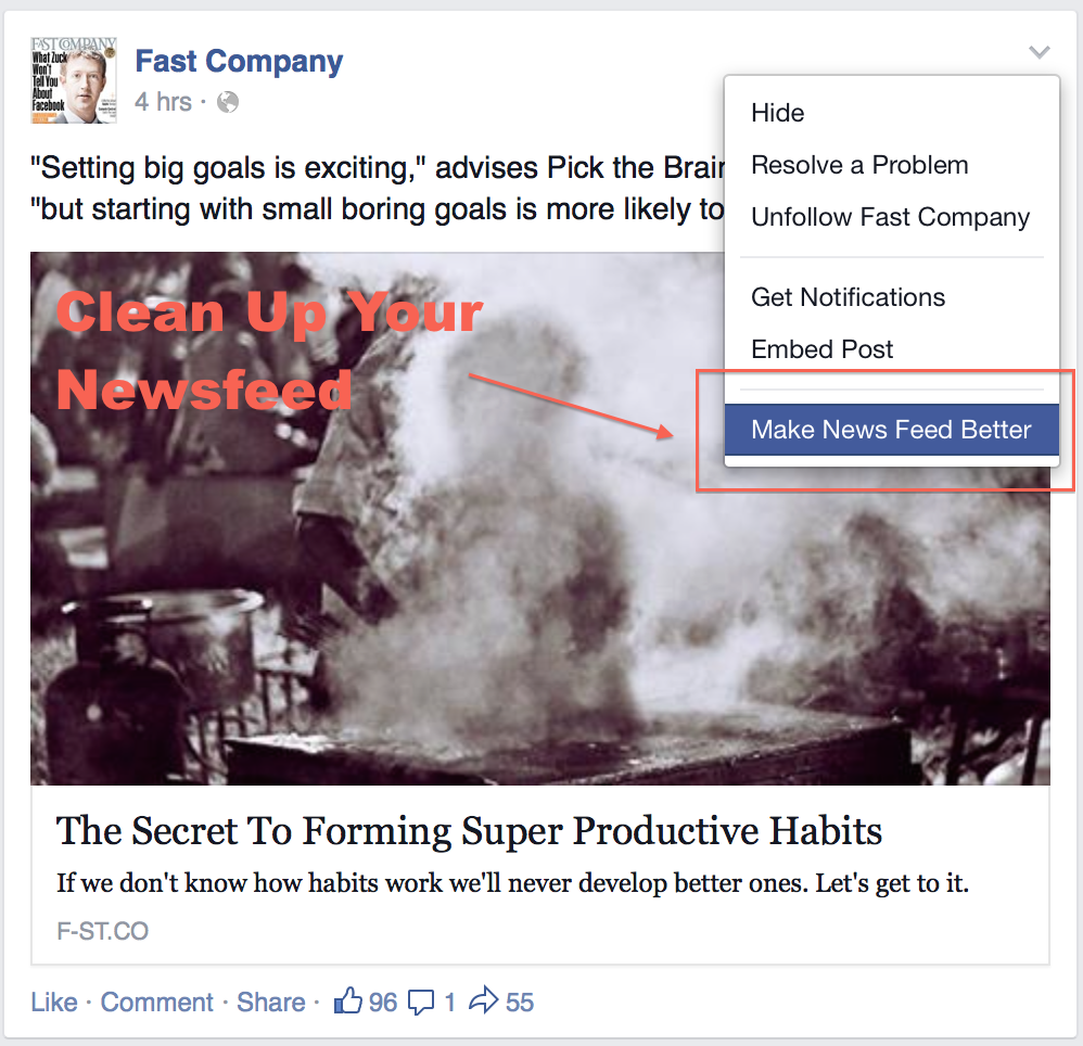 Change your Facebook News Feed