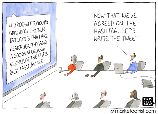 Hashtags via The Marketoonist