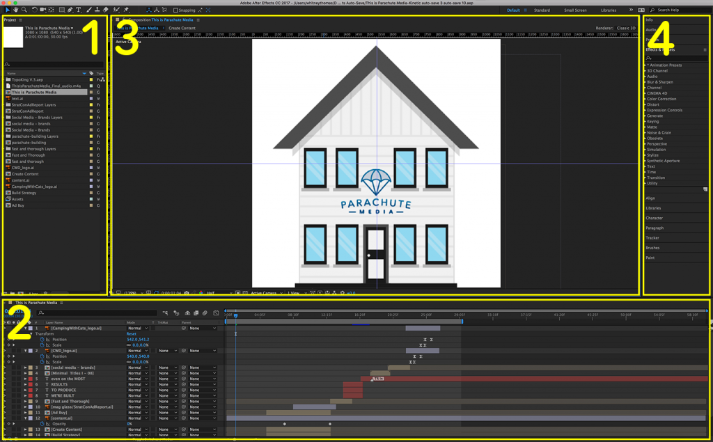 after effects program screenshot
