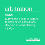 Legal Definition: arbitration