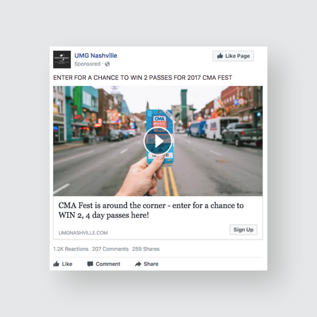 Giveaway Facebook Lead Ad Campaign - Parachute Media