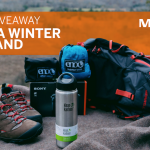 graphic of outdoor gear for Merrell's Winter Wonderland giveaway
