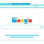 Illustration of Google home page