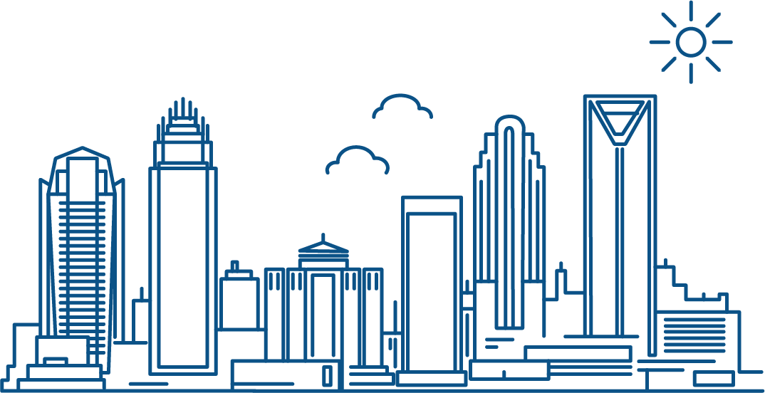 illustration of charlotte north carolina skyline second location