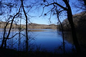 View of Radnor Lake from the trail.
