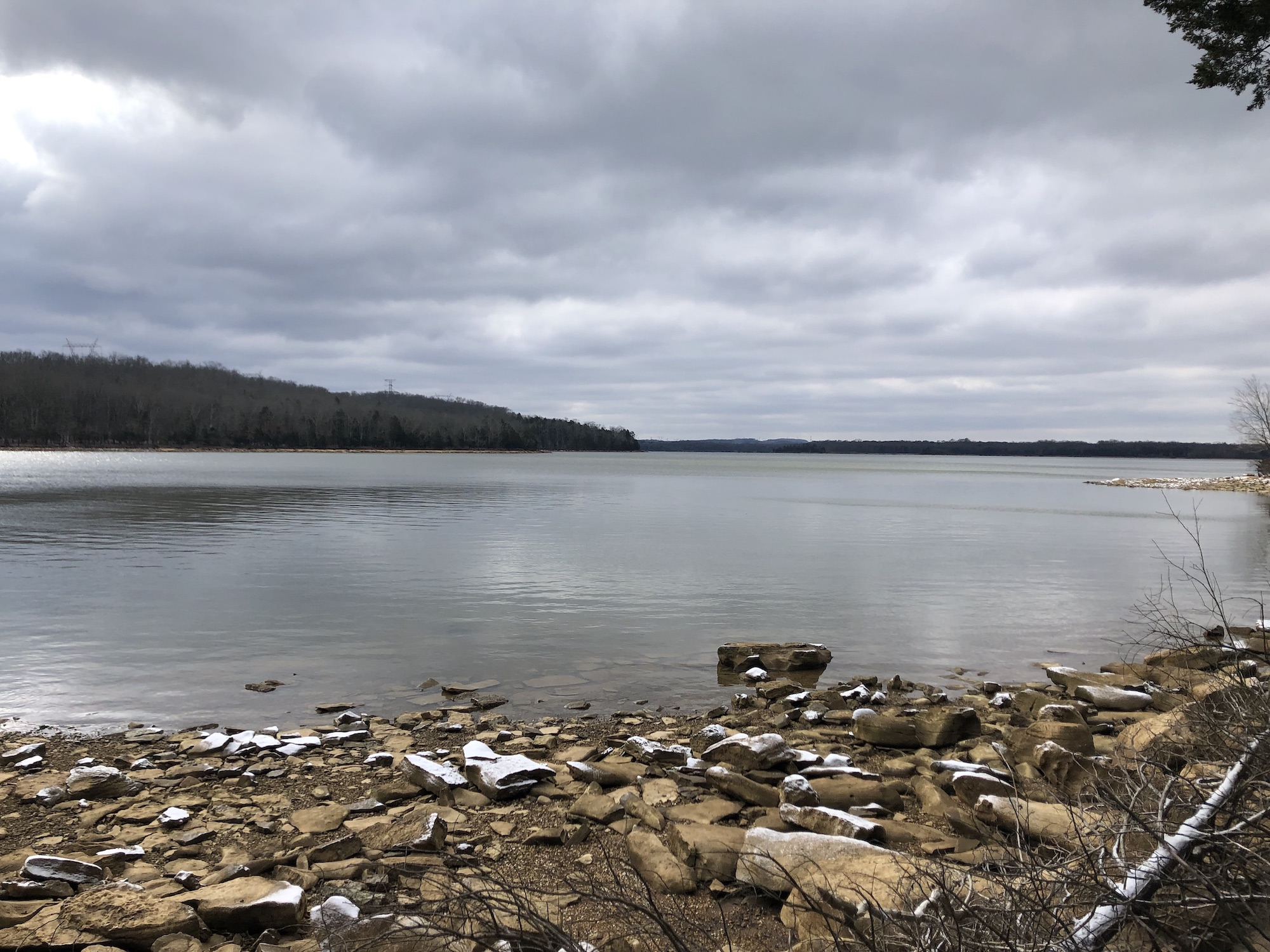 Winter view of Percy Priest Lake