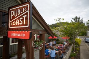 outside view of Public Coast Brewing