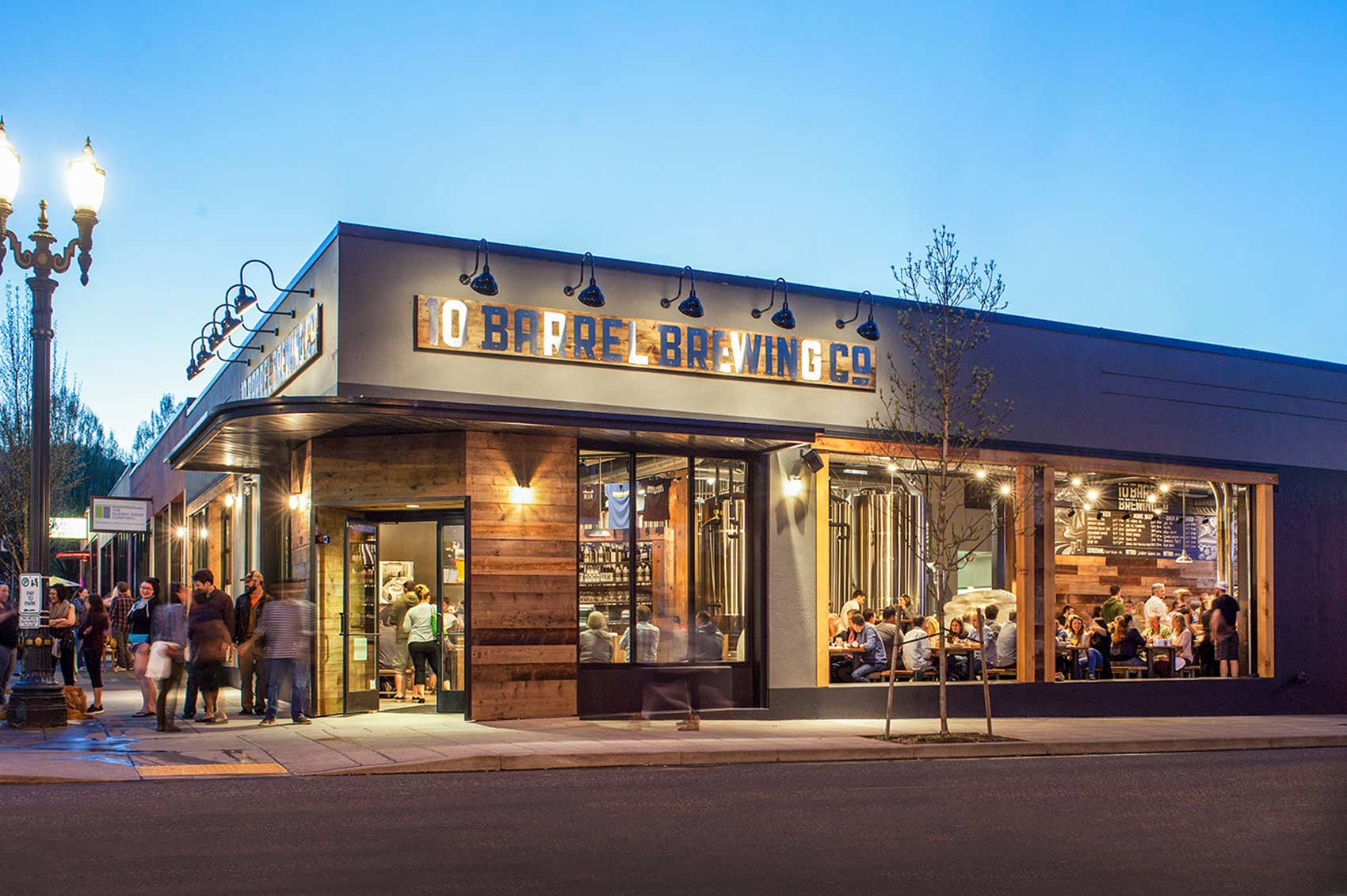Outside view of 10 Barrel Brewing in Portland, Oregon