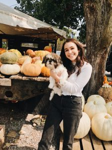 Rileigh and Ollie with pumpkins