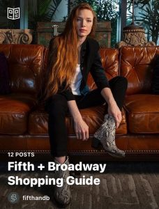 A screenshot of the Fifth + Broadway Shopping Guide on Instagram.