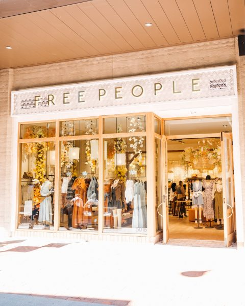 Image of Free People storefront at Fifth + Broadway.