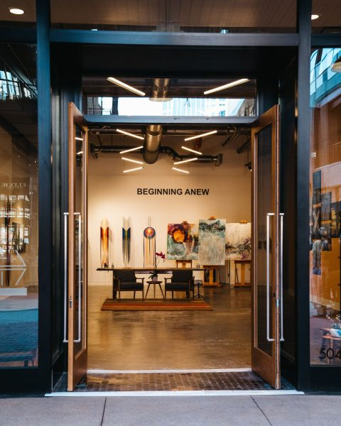 Image of Swipe Right Art storefront at Fifth + Broadway.